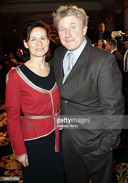 Actor Joerg Schuettauf and wife Martina attend the Medienboard Reception during day three of the 61st Berlin International Film Festival at Ritz...