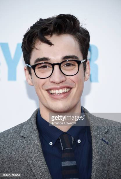 Actor Joey Bragg arrives at a special screening of Netflix's 'Father Of The Year' at ArcLight Hollywood on July 19 2018 in Hollywood California