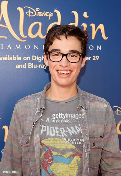 Actor Joey Bragg attends a special LA screening celebrating Diamond Edition release of 'ALADDIN' at The Walt Disney Studios on September 27 2015 in...