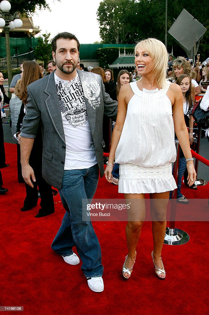 Actor Joey Fatone (L) and 'Dancing With The Stars' partner Kym Johnson attend the premiere of Walt Disney's 'Pirates Of The Caribbean: At World's End' held at Disneyland on May 19, 2007 in Anaheim, California. Proceeds from the world premiere of Walt Disney's 'Pirates Of The Caribbean: At World's End' will benefit the Make-A-Wish Foundation of America and Make-A-Wish International.