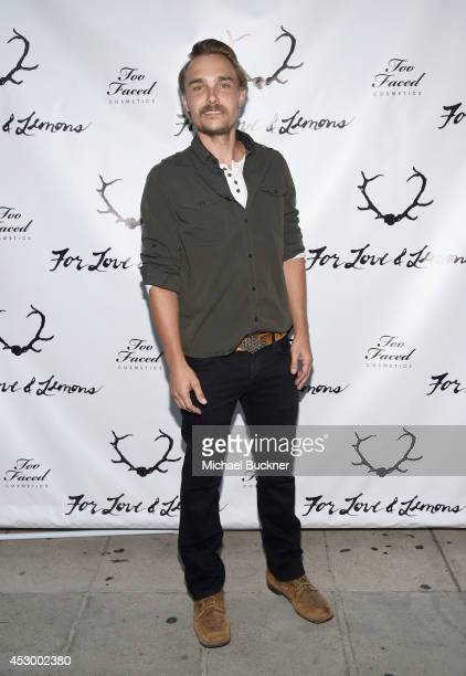 Actor Joey Kern attends For Love and Lemons annual SKIVVIES party cohosted by Too Faced and performance by The Shoe at The Carondelet House on July...