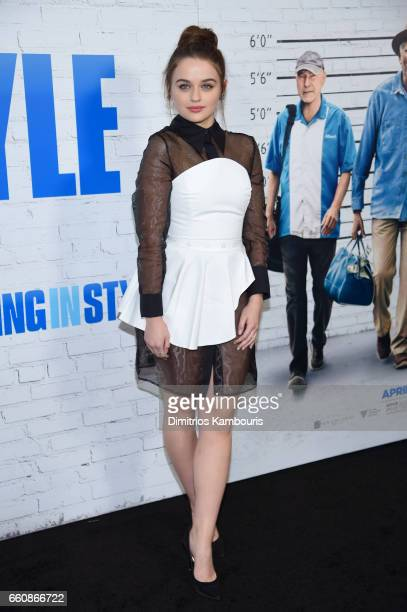 Actor Joey King attends the 'Going In Style' New York Premiere at SVA Theatre on March 30 2017 in New York City