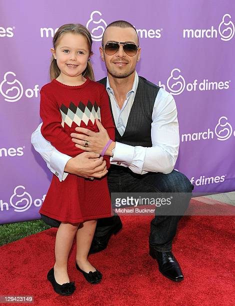 Actor Joey Lawrence and daughter Charli Lawrence attend the March of Dimes Foundation Samantha Harris Host 5th Annual Celebration of Babies Luncheon...