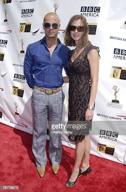 Actor Joey Lawrence and wife Chandie YawnNelson arrive at the 5th Annual Primetime Emmy Nominees' BAFTA Tea Party at Wattles Mansion on September 15...