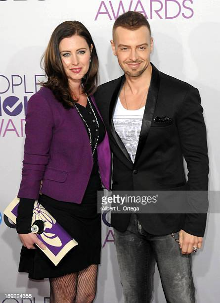 Actor Joey Lawrence and wife Chandie YawnNelson arrive for the 34th Annual People's Choice Awards Arrivals held at Nokia Theater at LA Live on...