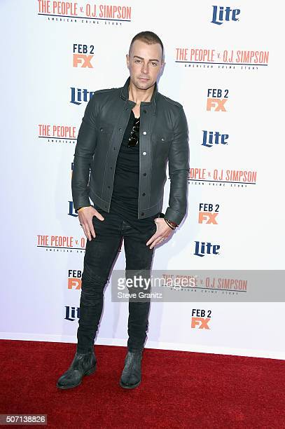 Actor Joey Lawrence attends premiere of FX's American Crime Story The People V OJ Simpson at Westwood Village Theatre on January 27 2016 in Westwood...