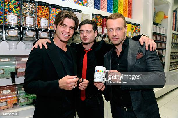 Actor Joey Lawrence celebrates his birthday with his brothers Matthew Lawrence and Andrew Lawrence at the Sugar Factory at the Paris Las Vegas on...