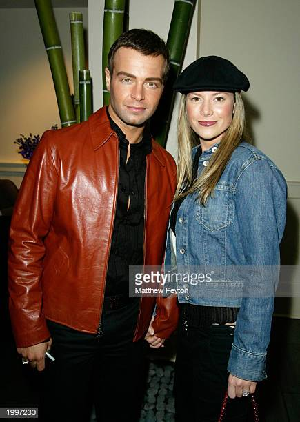 Actor Joey Lawrence from the show Run of the House and wife Michelle Vella Lawrence attend the The WB Television Network Upfront AllStar Party at the...
