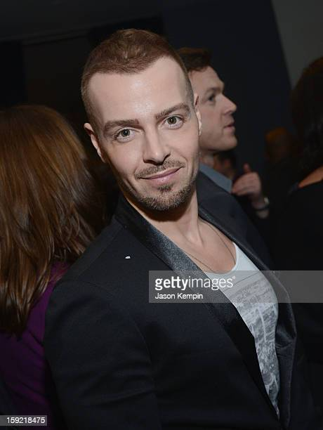 Actor Joey Lawrence poses backstage at the 39th Annual People's Choice Awards at Nokia Theatre LA Live on January 9 2013 in Los Angeles California