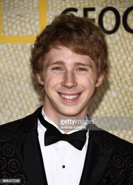 Actor Joey Luthman arrives at the premiere of National Geographic's 'The Long Road Home' at Royce Hall on October 30 2017 in Los Angeles California