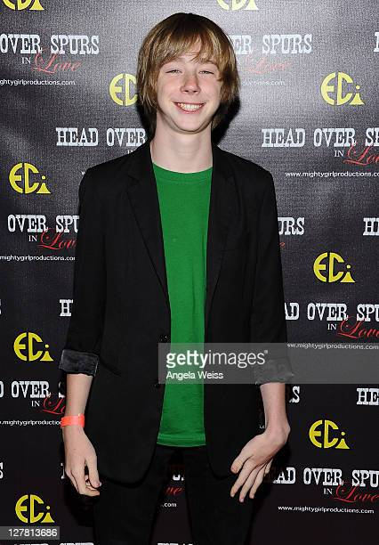 Actor Joey Luthman arrives at the world premiere of 'Head Over Spurs In Love' at Majestic Crest Theatre on March 24, 2011 in Los Angeles, California.