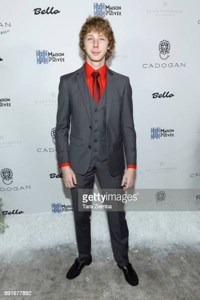 Actor Joey Luthman attends Bello Magazine's December Issue Launch Party with 'Modern Family' star Nolan Gould at Hills Penthouse on December 12 2017...