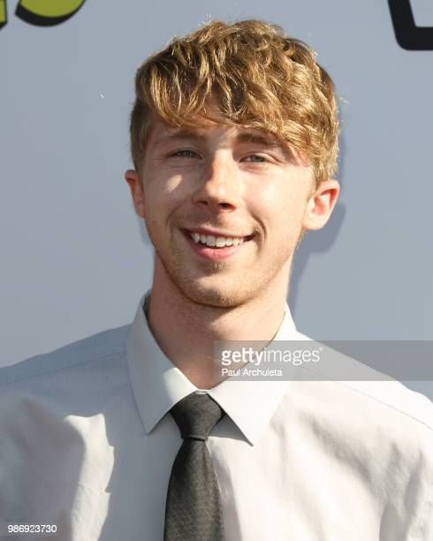 Actor Joey Luthman attends the GenZ Studio Brat's premiere of Chicken Girls at The Ahrya Fine Arts Theater on June 28 2018 in Beverly Hills California