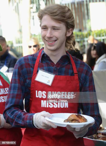 Actor Joey Luthman attends The Los Angeles Mission's Christmas Celebration On Skid Row held at Los Angeles Mission on December 22 2017 in Los Angeles...