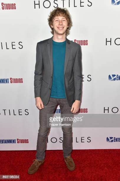 Actor Joey Luthman attends the premiere of Entertainment Studios Motion Pictures' 'Hostiles' at Samuel Goldwyn Theater on December 14 2017 in Beverly...
