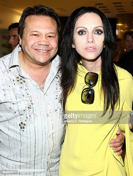 Actor Joey Medina and actress Roxy Saint attend the after party for the premiere of Triumph Films' Zombie Strippers on April 15 2008 in Los Angeles...