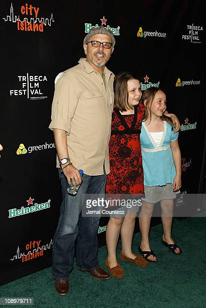 Actor Joey Pantoliano Daniella Pantoliano and Isabella Grace Pantoliano attend the City Island Premiere After Party hosted by Heineken at Greenhouse...