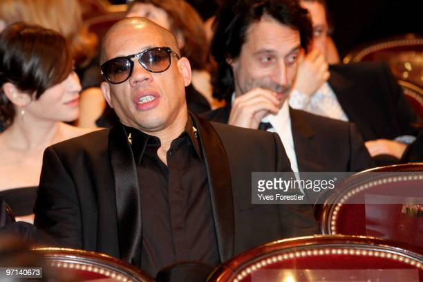Actor Joey Starr attends during the 35th Cesar Film Awards held at Theatre du Chatelet on February 27 2010 in Paris France