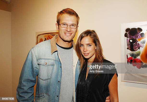 VENICE CA OCTOBER 06 Actor Johann Urb and Artist/Model Sarai Givaty attend the Privacy Exhibit at The Red House Gallery on October 6 2007 in Venice...