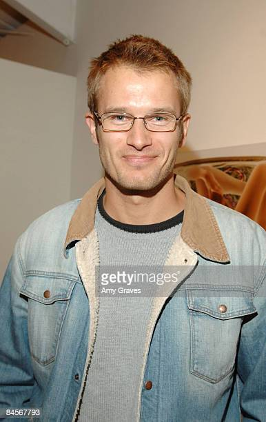 VENICE CA OCTOBER 06 Actor Johann Urb attends the Privacy Exhibit at The Red House Gallery on October 6 2007 in Venice California
