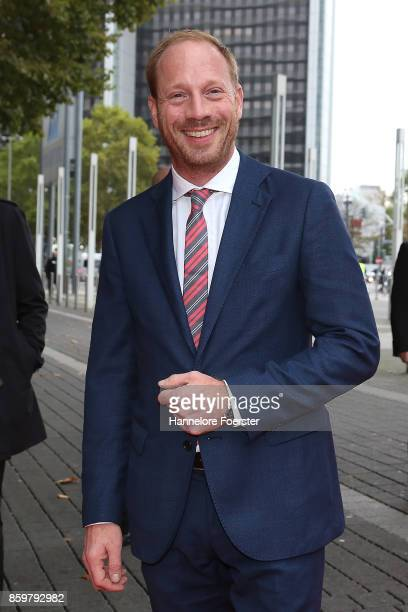 Actor Johann von Buelow arrives to the opening ceremony of the 2016 Frankfurt Book Fair on October 10, 2017 in Frankfurt am Main, Germany. The 2017...