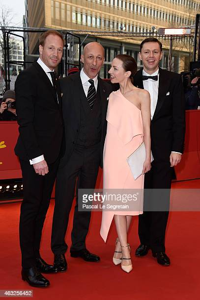 Actor Johann von Buelow, director Oliver Hirschbiegel and actors Katharina Schuettler and Christian Friedel attend the '13 Minutes' premiere during...