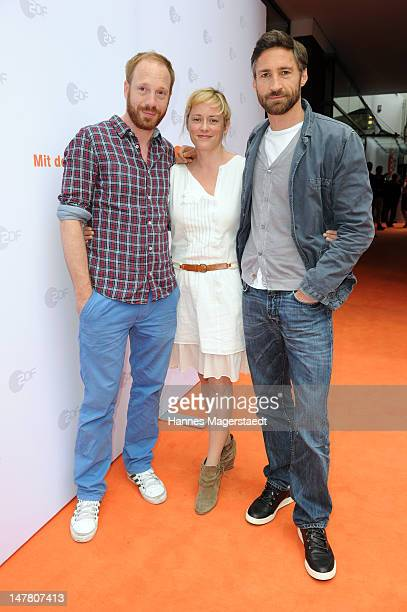 Actor Johann von Buelow Silke Bodenbender and Benjamin Sadler attend the ZDF reception during the Munich Film Festival 2012 at the H'ugo's on July 3...