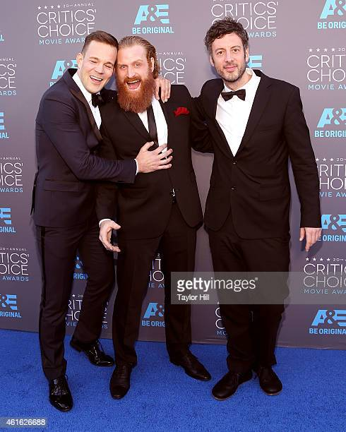 Actor Johannes Kuhnke actor Kristofer Hivju and editor Jacob Secher Schulsinger attend the 20th annual Critics' Choice Movie Awards at the Hollywood...