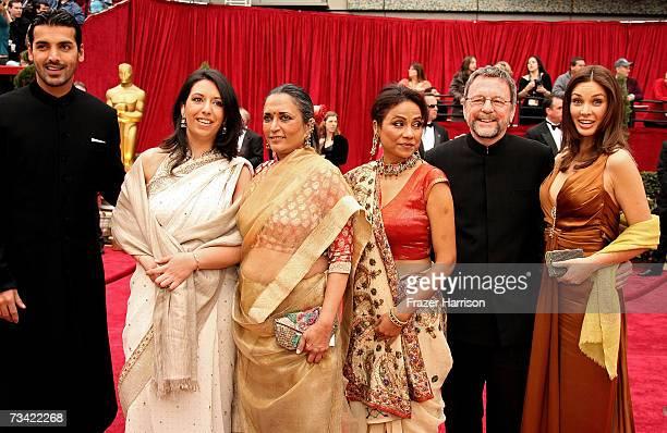 Actor John Abraham actress/director Deepa Mehta actress Seema Biswas and producer David Hamilton and actress Lisa Ray of Foreign Language Film...