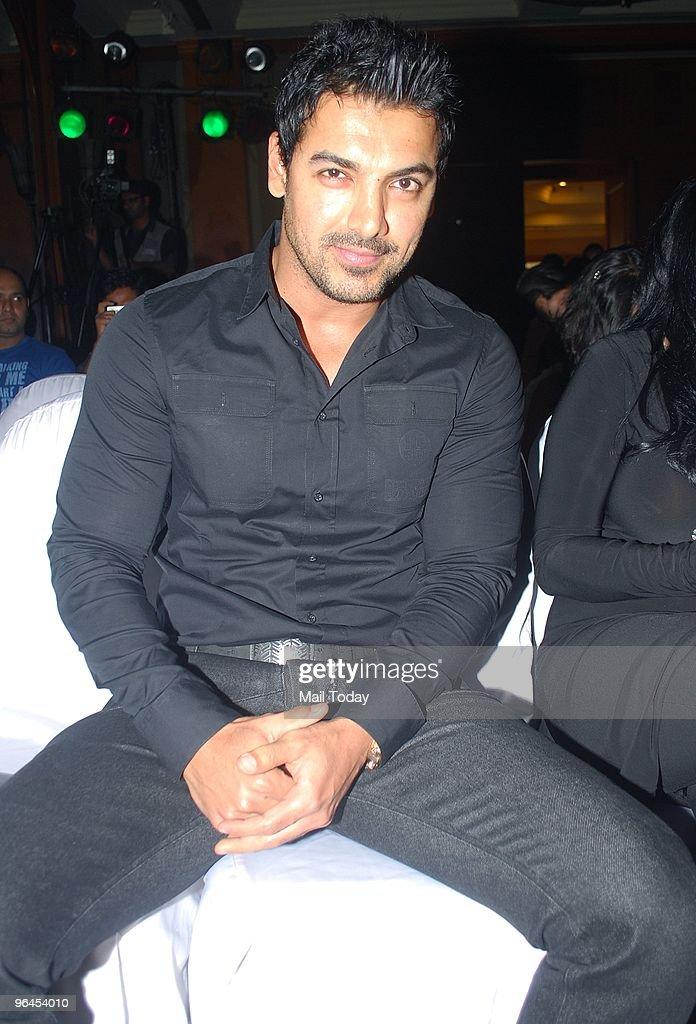 Actor John Abraham at the launch of actress Bipasha Basu`s fitness DVD in Mumbai on February 4 2010
