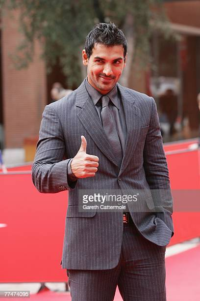 Actor John Abraham attends a premiere for 'No Smoking' during day 7 of the 2nd Rome Film Festival on October 24 2007 in Rome Italy