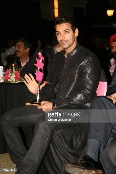 Actor John Abraham receiving the award for The Most Stylish Male Personaliy at the 8th Annual Lycra Images Fashion Awards 2008 held at The...