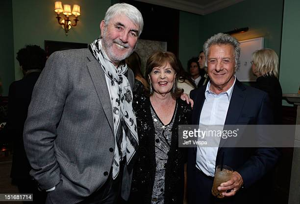 Actor John Alderton actress Pauline Collins and actor/director Dustin Hoffman attend The Weinstein Company film premiere party hosted by Grey Goose...