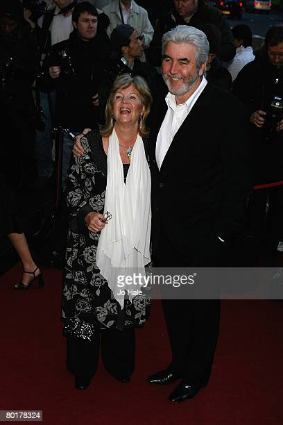 Actor John Alderton and his wife actress Pauline Collins arrive at The Laurence Olivier Awards at Grosvenor House on March 9 2008 in London