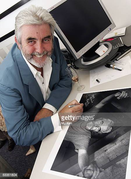 Actor John Alderton is seen at the private view for Off Stage The RADA Centenary Portraits photographer Cambridge Jones's photographs of 100 Royal...