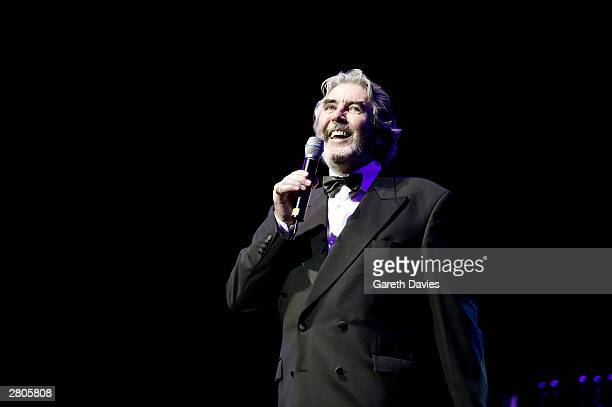 Actor John Alderton performs at annual TV Times Carols With The Stars festive concert at the Royal Albert Hall on December 11 2003 in London The...