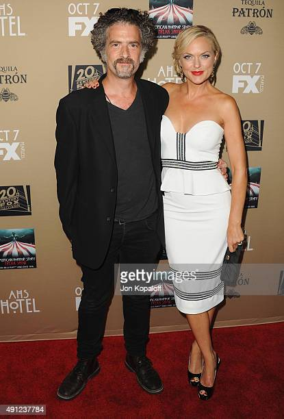 """Actor John Ales and actress Elaine Hendrix arrive at the Premiere Screening Of FX's """"American Horror Story: Hotel"""" at Regal Cinemas L.A. Live on..."""