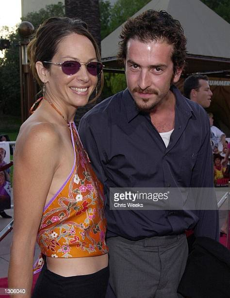 Actor John Ales and actress Wendy Gazelle attend the premiere of Nutty Professor II The Klumps July 24 2000 at the Universal Amphitheater in...