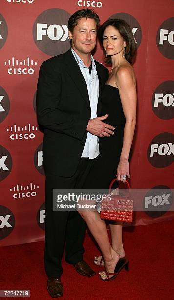 Actor John Allen Nelson and wife Justine Eyre arrive at the Fox Fall Eco-Casino Party at Boulevard3 on October 23, 2006 in Los Angeles, California.