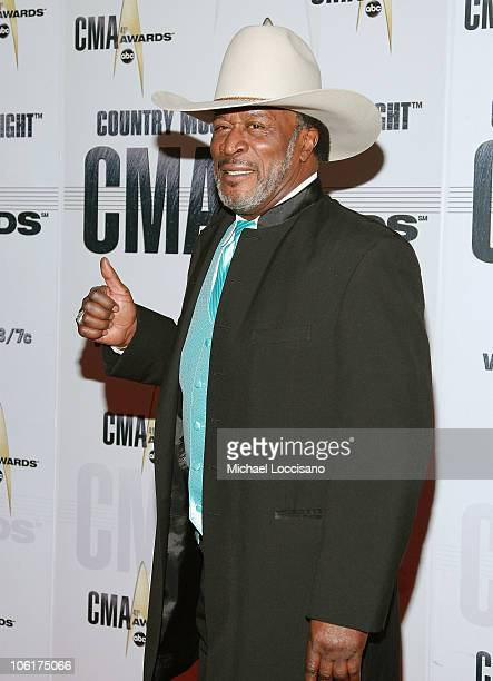 Actor John Amos arrives at the 41st Annual CMA Awards at the Sommet Center on November 7 2007 in Nashville TN