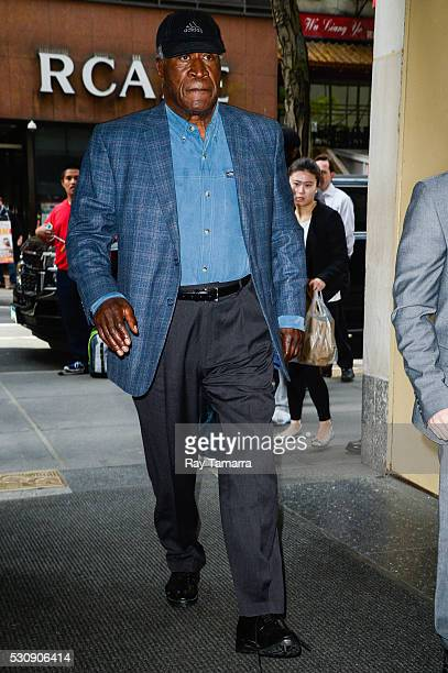 Actor John Amos enters the Today Show taping at the NBC Rockefeller Center Studios on May 11 2016 in New York City
