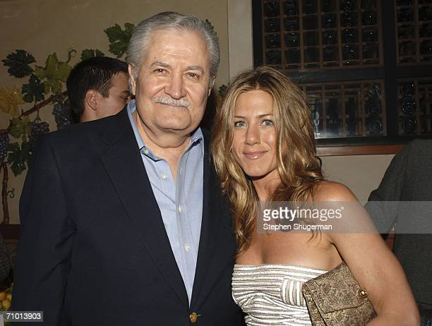 Actor John Aniston and daughter actor Jennifer Aniston attend the after party following the world premiere of Universal Pictures The BreakUp at the...
