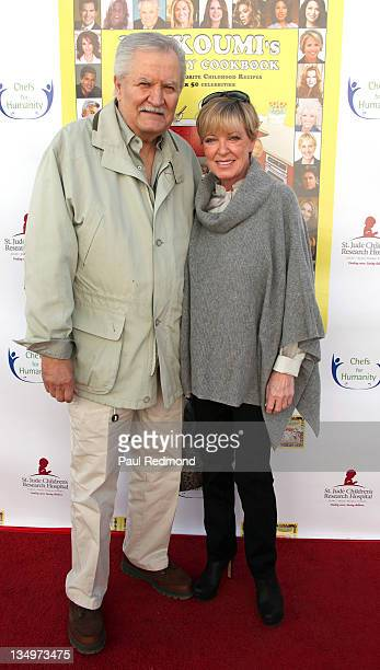Actor John Aniston and his wife Sherry Rooney Aniston attends Loukoumi's Celebrity Cookbook Los Angeles Premiere Party at Treehouse Social Club on...