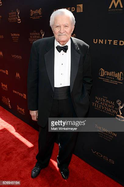 Actor John Aniston arrives at the 43rd Annual Daytime Emmy Awards at the Westin Bonaventure Hotel on May 1 2016 in Los Angeles California
