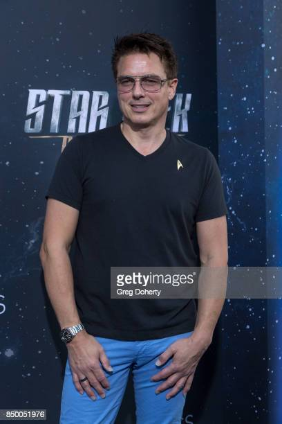 Actor John Barrowman arrives for the Premiere Of CBS's 'Star Trek Discovery' at The Cinerama Dome on September 19 2017 in Los Angeles California