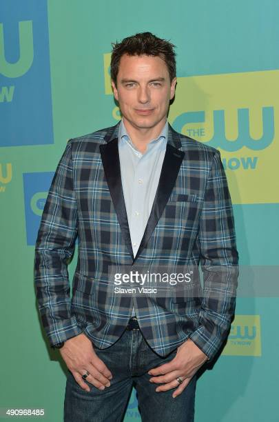 Actor John Barrowman attends the CW Network's New York 2014 Upfront Presentation at The London Hotel on May 15 2014 in New York City
