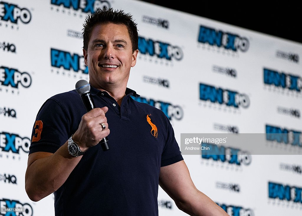 Actor John Barrowman speaks at the Celebrity Q&A during 'Fan Expo Vancouver 2015' at the Vancouver Convention Centre on April 5, 2015 in Vancouver, Canada.