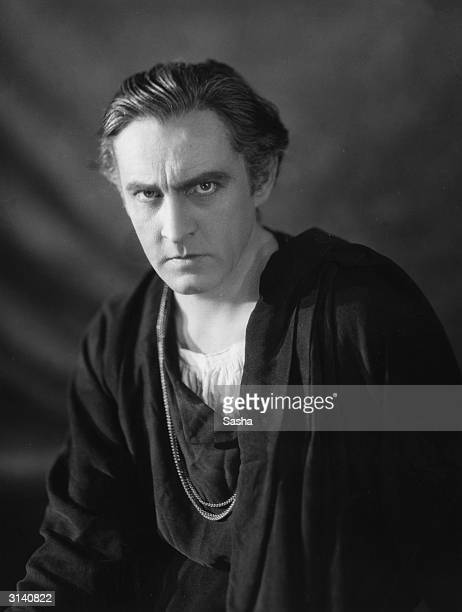 Actor John Barrymore when he played Hamlet at the Haymarket Theatre London his first appearance in England
