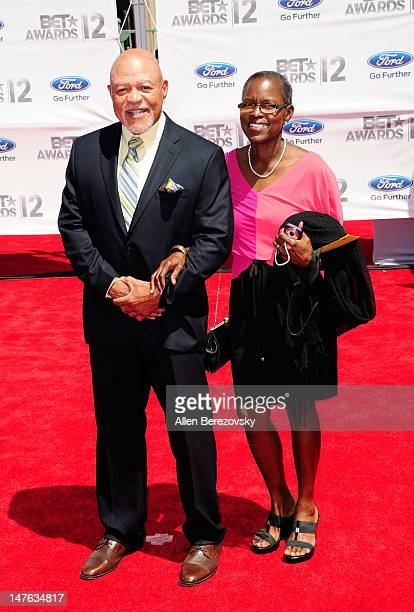 Actor John Beasley and wife Judy Beasley arrive at the 2012 BET Awards at The Shrine Auditorium on July 1 2012 in Los Angeles California