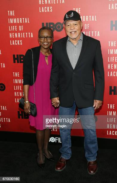 Actor John Beasley and wife Judy Beasley attends The Immortal Life Of Henrietta Lacks New York Premiere at SVA Theater on April 18 2017 in New York...